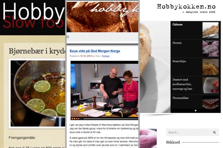Fra venstre kan du se hvordan hvordan bloggen har fremmstått fra 2006, 2009 og slik den er i dag...
